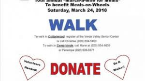 10th Annual March-a-Mile for Meals, benefiting Verde Valley Meals on Wheels @ Verde Valley Senior Center | Cottonwood | Arizona | United States