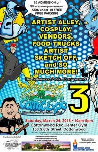 3rd Annual Verde Valley Comic Expo @ Cottonwood Recreation Center | Cottonwood | Arizona | United States