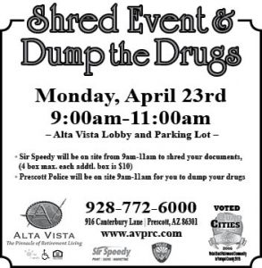 Shred Event/Dump The Drugs @ Alta Vista Retirement Community | Prescott | Arizona | United States