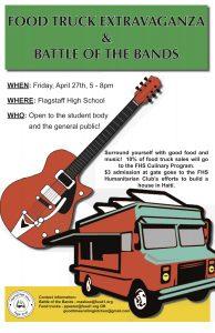 Food Truck Extravaganza & Battle of the Bands @ Flagstaff High School | Flagstaff | Arizona | United States