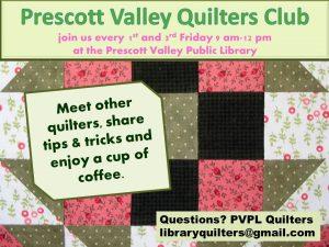 Prescott Valley Quilter's Club @ Prescott Valley Public Library  | Prescott Valley | Arizona | United States