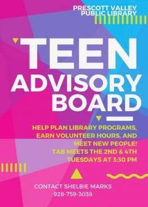 Teen Advisory Board @ Prescott Valley Public Library  | Prescott Valley | Arizona | United States