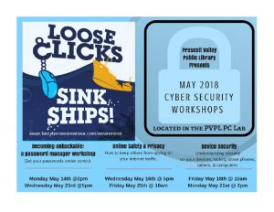 May Cyber Security Workshops @ Prescott Valley Library | Prescott Valley | Arizona | United States