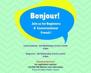 Beginners Conversational French @  Prescott Valley Public Library   Prescott Valley   Arizona   United States