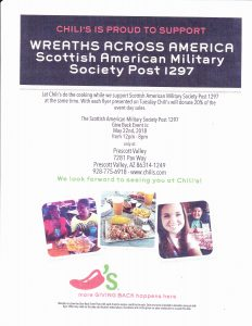 Scottish American Military Society Fundraiser @ Chili's  | Prescott Valley | Arizona | United States