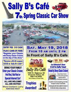 RADIO STATION APPEARANCE-Sally B's Cafe/Dewey Classic Cruisers Car Show @ Sally B's Cafe | Prescott Valley | Arizona | United States