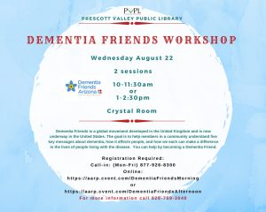 Dementia Friends Information Session @ Prescott Valley Public Library