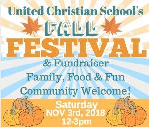 Fall Festival School Benefit @ United Christian School