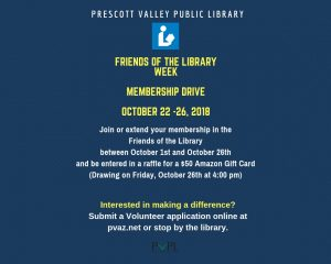 Friends of the Library Membership Drive @ Prescott Valley Public Library