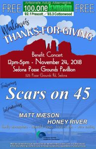 RADIO STATION APPEARANCE-Malone's Thanks-for-Giving Benefit Concert @ Posse Grounds Pavilion