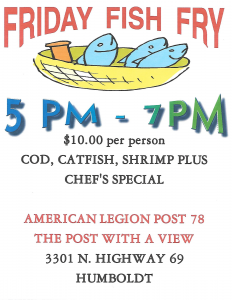 Friday Fish Fry @ American Legion Post 78