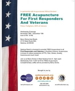 Free Accupuncture for First Responders and Veterans @ Berry Divine Acai Bowls