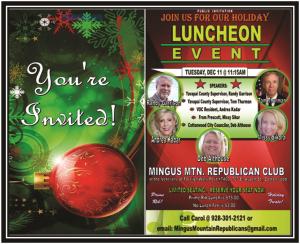 Mingus Mountian Republican Club Luncheon