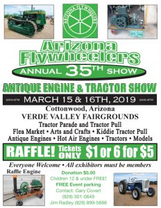 Flywheelers 35th Antique Engine and Tractor Show & Craft Sale @ Verde Valley Fairgrounds