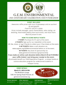 G.E.M. Environmental Fundraiser @ The Windsock Lounge
