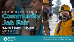RADIO STATION APPEARANCE- Community Job Fair @ Coconino Community College