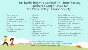 Verde Valley Humane Society Supply Drive