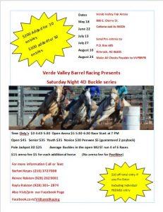 4D Open Barrel Race @ Verde Valley Fair Arena @ Verde Valley Fair Arena