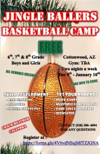 Free Basketball Camp for 6-8th graders