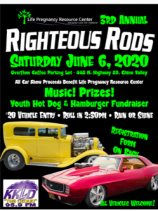 RADIO STATION APPEARANCE-RIGHTEOUS RODS CAR SHOW @ Overflow Coffee parking lot