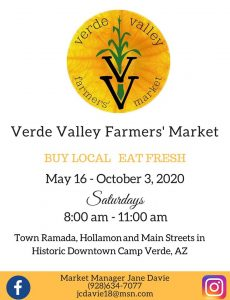 Verde Valley Farmers Market @ Camp Verde Town Ramada