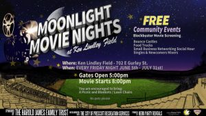 Moonlight Movie Nights at Ken Lindley Field-CANCELLED @ Ken Lindley Field