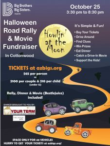 Howlin at the Moon Halloween Road Rally & Movie @ Various Cottonwood locations
