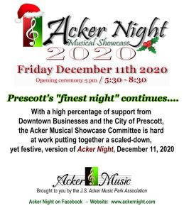 Acker Night 2020-CANCELLED @ Downtown Prescott