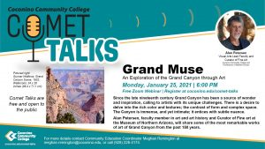 Coconino Community College Comet Talk Webinar:  An Exploration of the Grand Canyon through Art