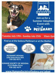 Humane Society of Sedona SUMMER ADOPTION EVENT @ Sedona Petsmart