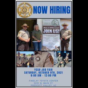 RADIO STATION APPEARANCE-Yavapai County Sheriff's Job Fair